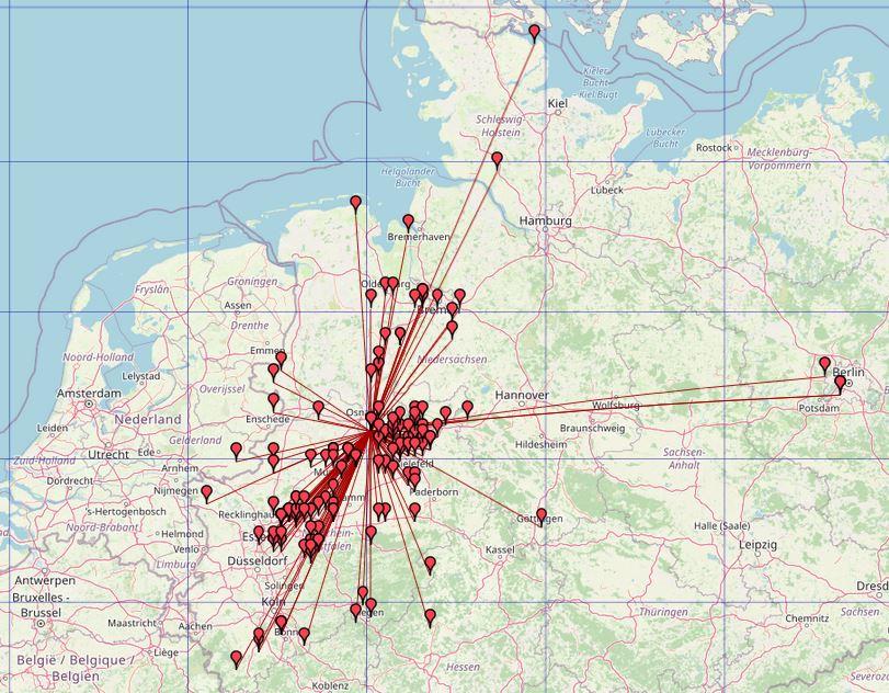 QSO MAP (Locator aus der GMA Datenbank)